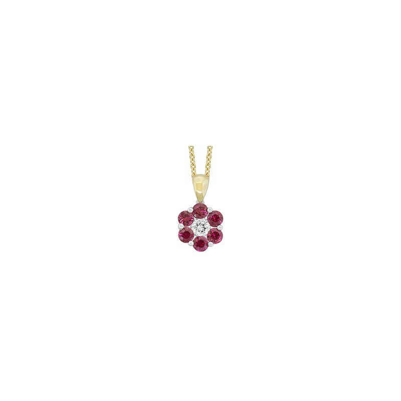Spark Creations Ruby & Diamond pendant