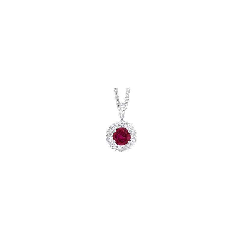 Spark Creations Ruby & Diamond necklace