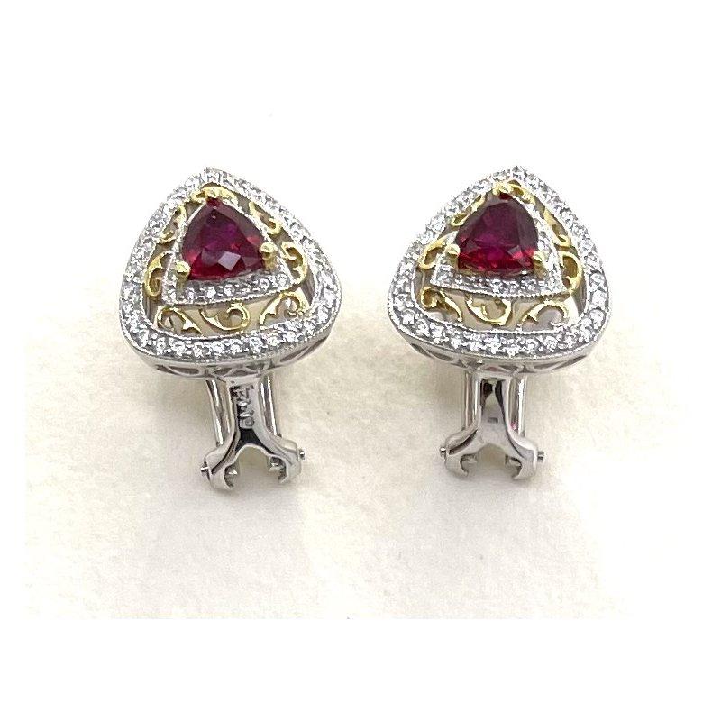 Spark Creations Ruby & Diamond Earrings