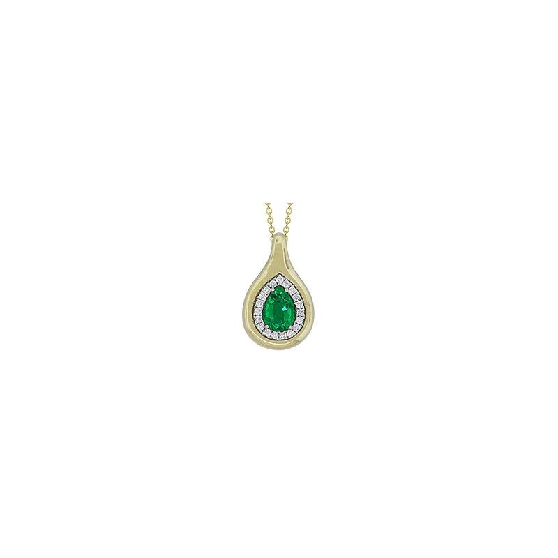 Spark Creations Emerald & Diamond Pendant