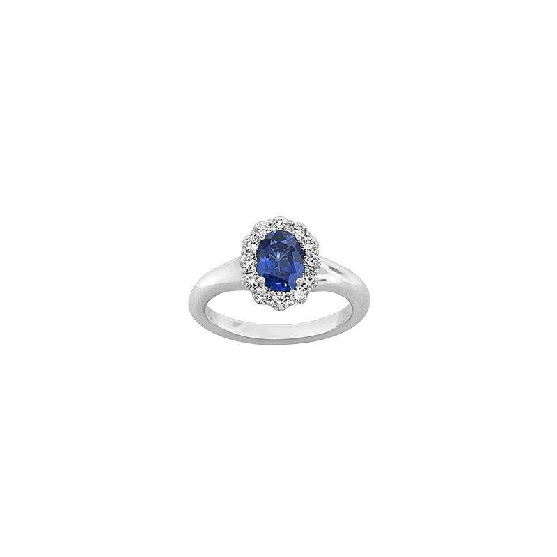 Spark Creations Sapphire & Diamond Ring