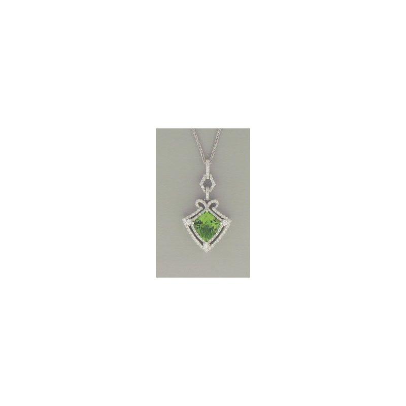 Spark Creations Peridot and Diamond Pendant