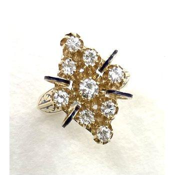Nine Stone Diamond Ring