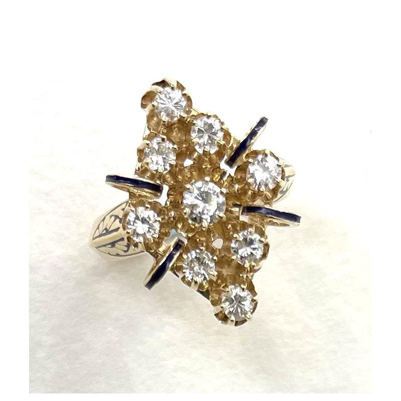 RMJ Signature Nine Stone Diamond Ring