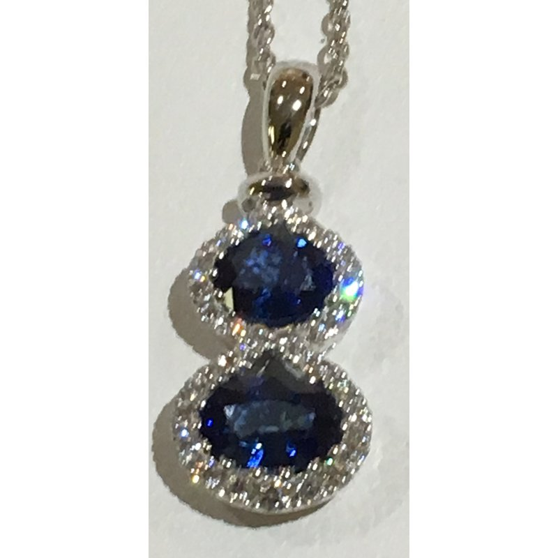 Spark Creations Sapphire & Diamond Pendant