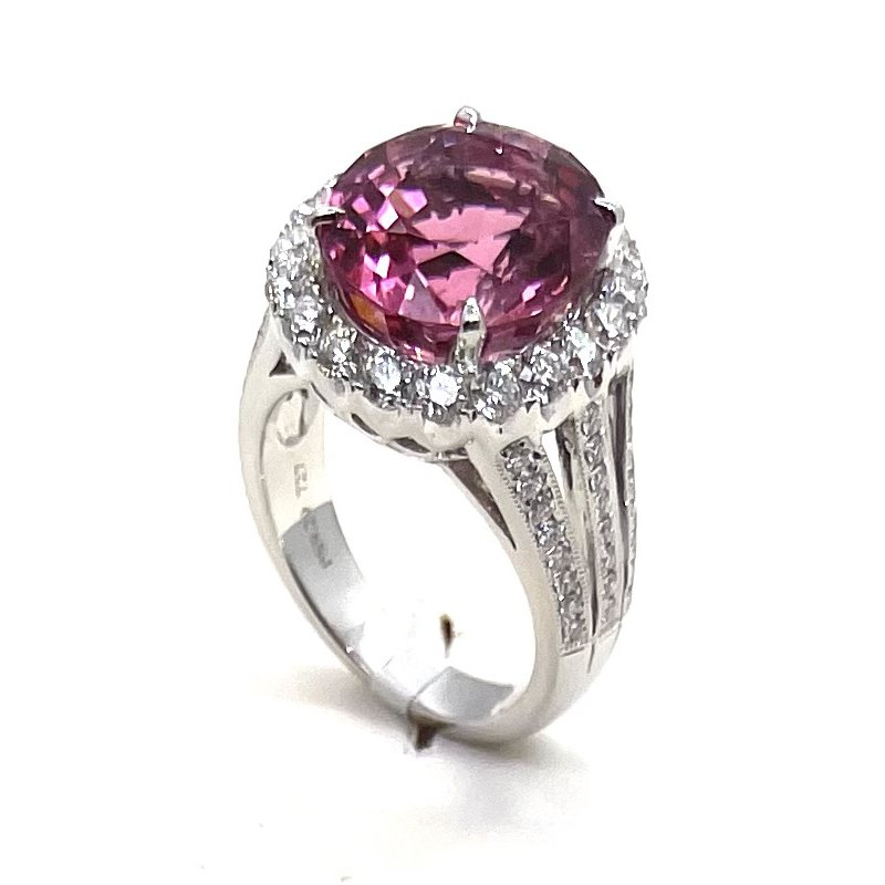 Spark Creations One Of A Kind Pink Tourmaline Ring