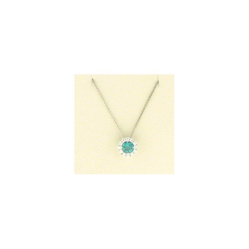Spark Creations Emerald & Diamond necklace