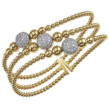 Flexible Diamond Twist Bangle
