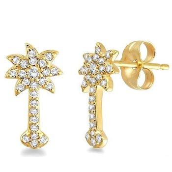 .25 ctw 14K Diamond Palmetto Earrings