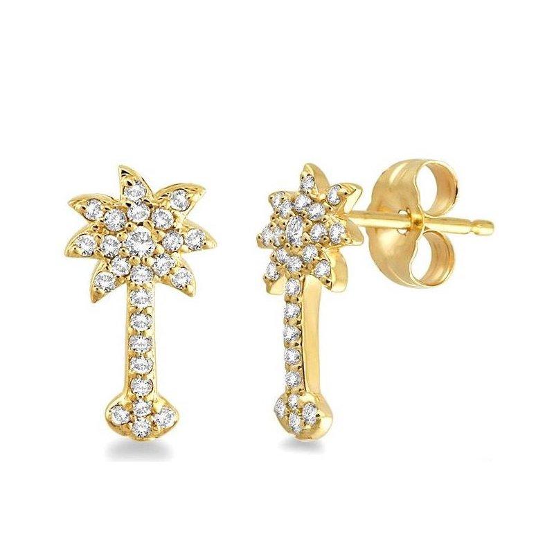 Diamond Palmetto Jewelry .25 ctw 14K Diamond Palmetto Earrings