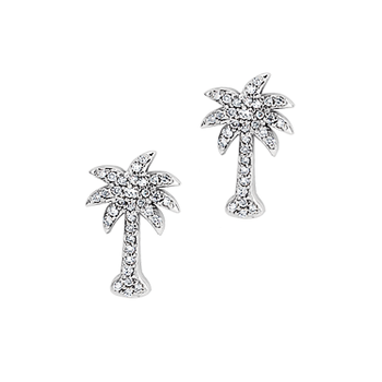 .25 ctw 14K Diamond Palmetto Earrings
