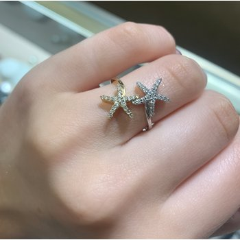 .33 ctw 14K Diamond Starfish Ring