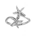 Diamond Palmetto Jewelry .33 ctw 14K Diamond Starfish Ring