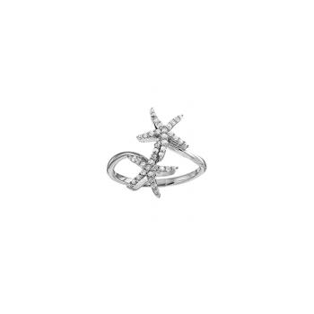 .33 ctw 14K Diamond Starfish Ring