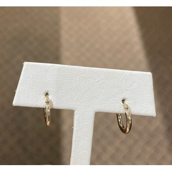 14K Yellow Gold 13mm Hoops