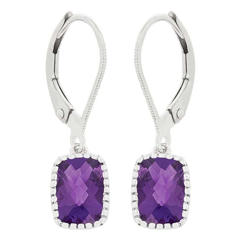 Gemstone Jewelry Amethyst Earrings