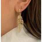Gold Earrings 14K Yellow Gold Palm Earring