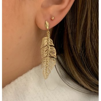 14K Yellow Gold Palm Earring