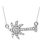 Diamond Palmetto Jewelry .20 ctw 14K Sideways Diamond Palmetto Pendant