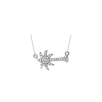 .20 ctw 14K Sideways Diamond Palmetto Pendant