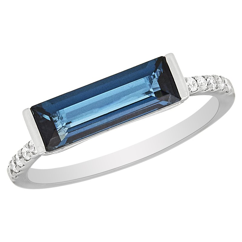 Gemstone Jewelry London Blue Topaz & Diamond