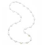 Pearl Jewelry Sterling Silver Coin Pearl Necklace