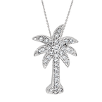 Diamond Palmetto Jewelry .20 ctw 14K Palmetto Pendant