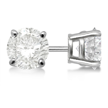 4-prong 14K White Gold Diamond Studs