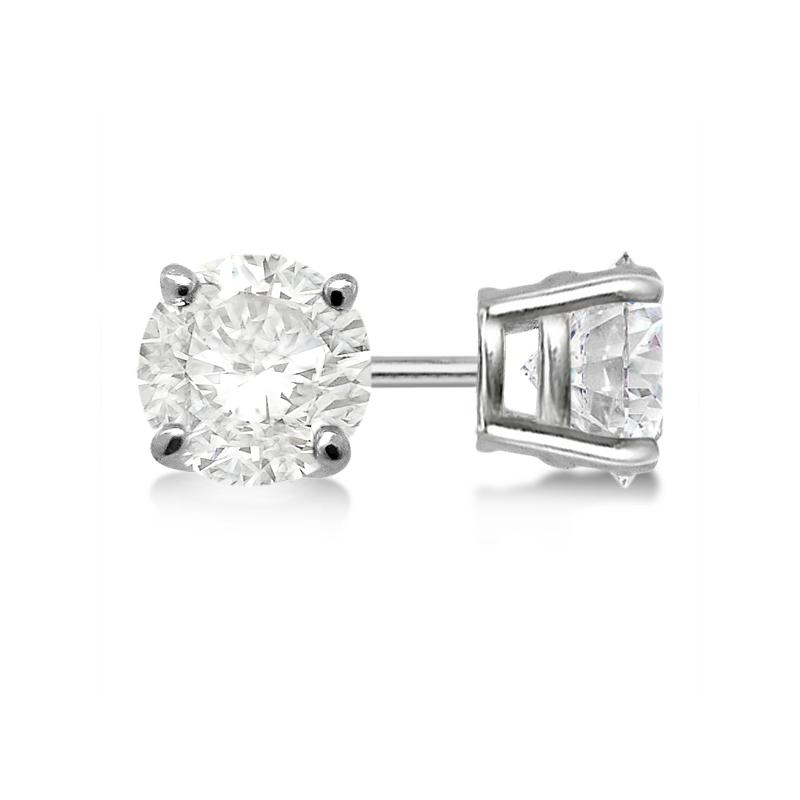 Diamond Studs 4-prong 14K White Gold Diamond Studs