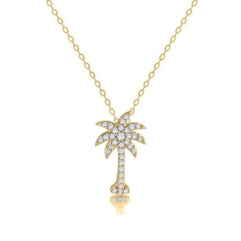 .95 ctw 14K Diamond Palmetto Pendant