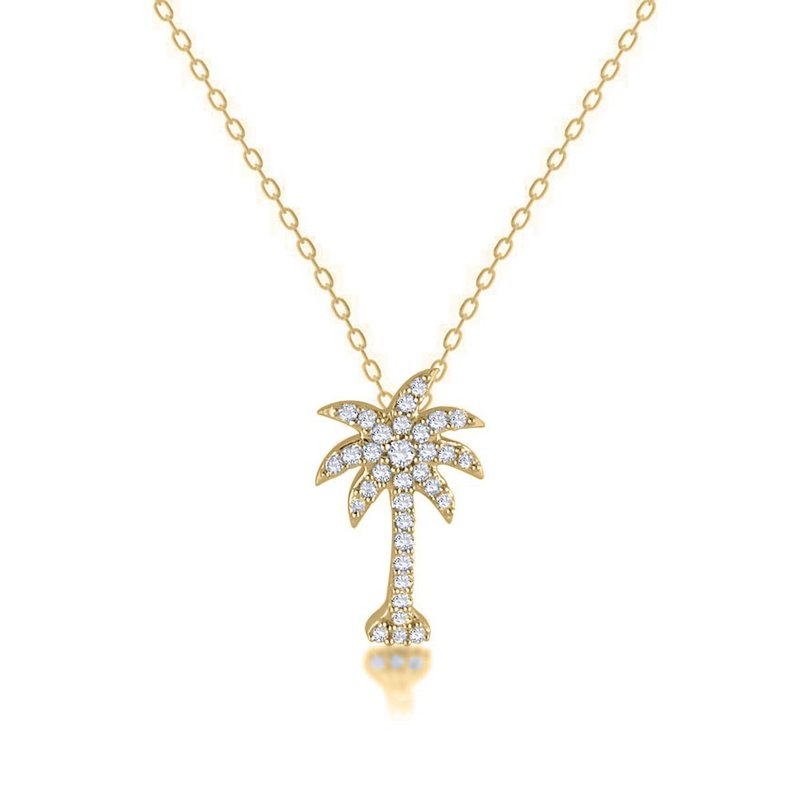 Diamond Palmetto Jewelry .95 ctw 14K Diamond Palmetto Pendant