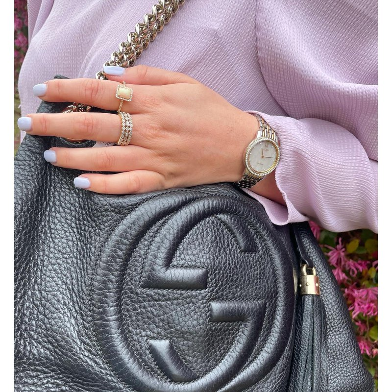 Luxury Handbags Gucci Soho Fringe Tassel Chain Bag in Black