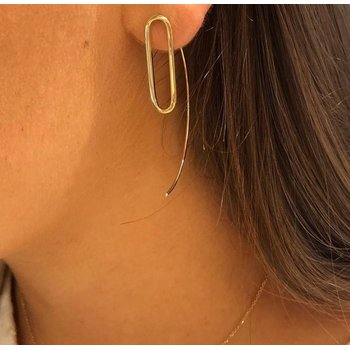 14K Yellow Gold Threader Earring