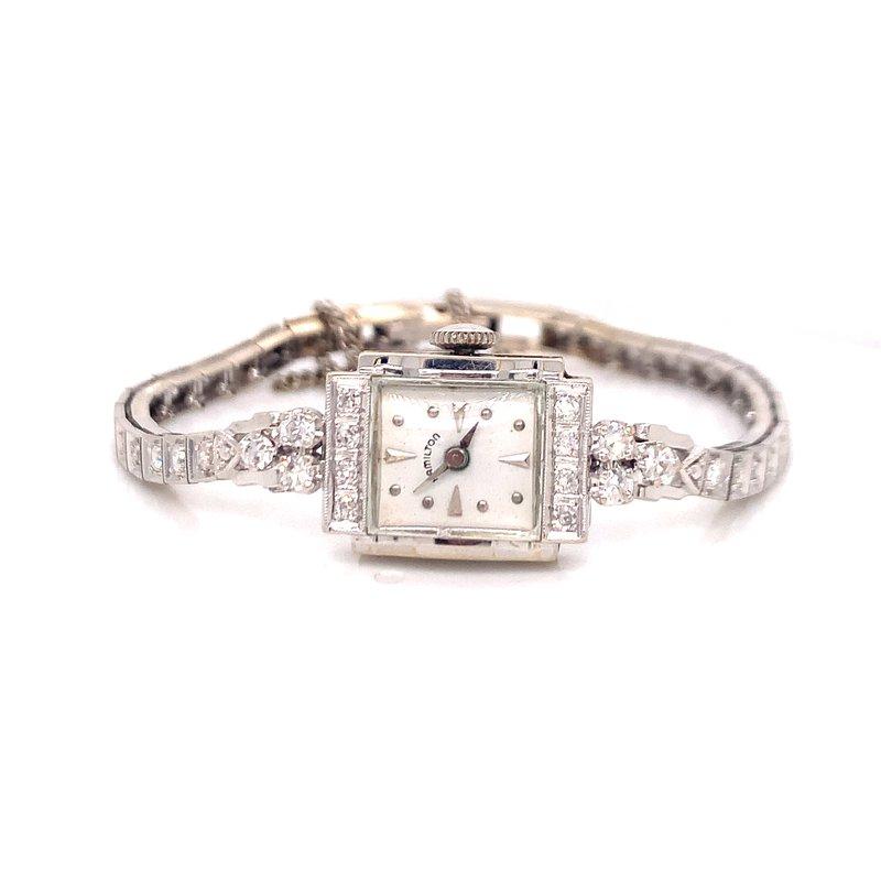 Smithworks Estate Jewelry Lady's 14K White Gold Estate Watch