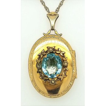 Lady's Aquamarine Locket