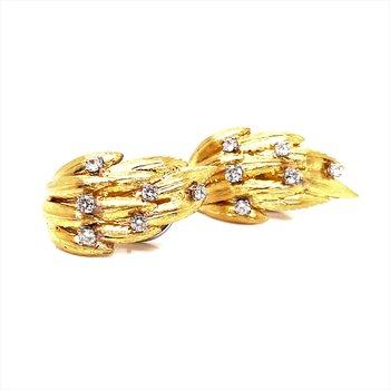 Lady's 14K Diamond Earrings