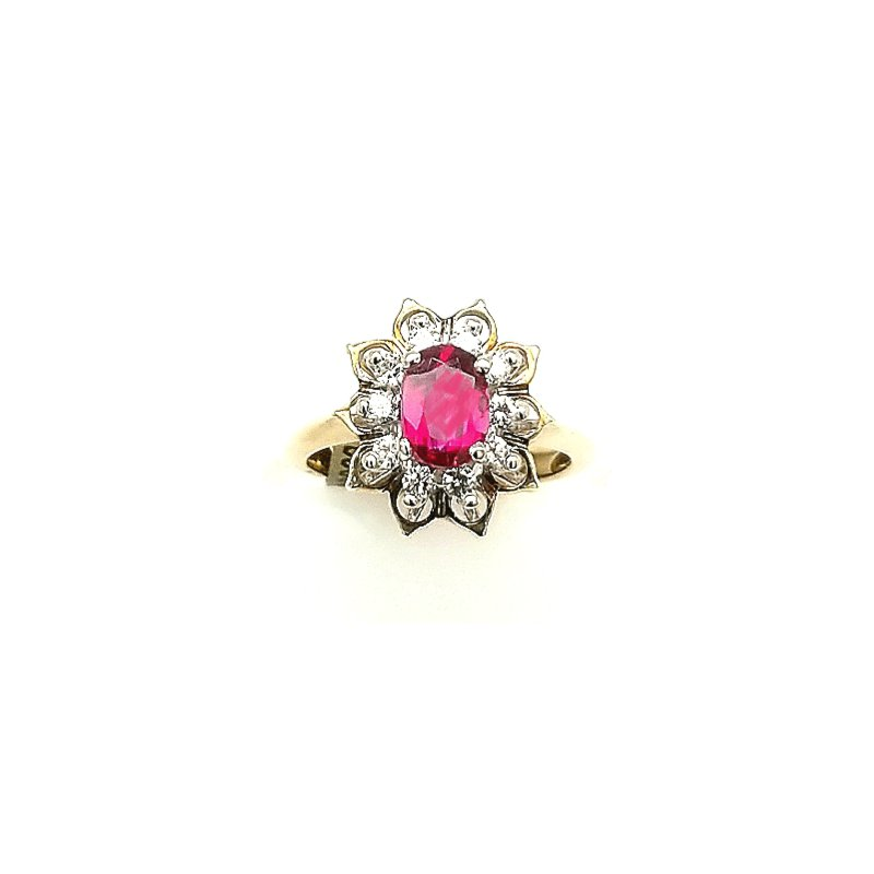 Smithworks Estate Jewelry 14ky Ruby and Diamond Ring