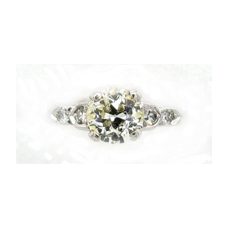 Smithworks Estate Jewelry Old European Cut Diamond and Platinum Engagement Ring