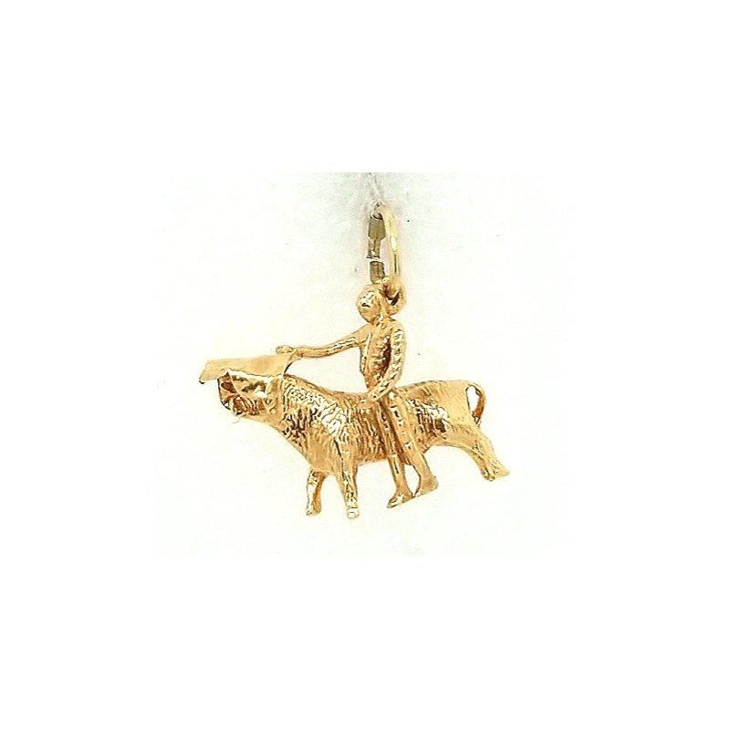 Smithworks Estate Jewelry 14ky Estate Charm Matador with Bull