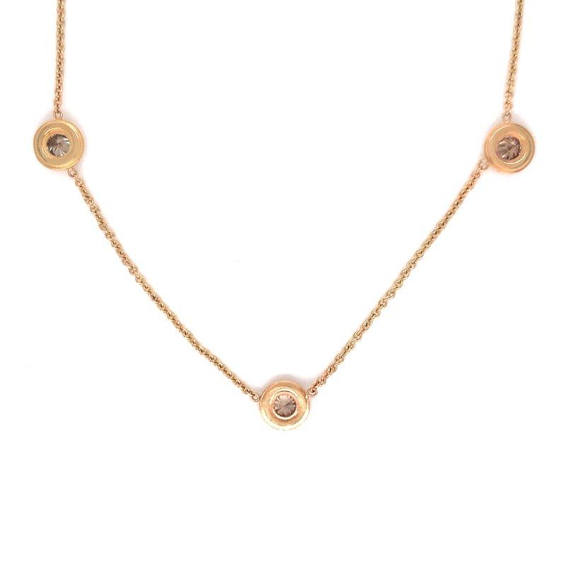 Smithworks Estate Jewelry Lady's Brown Diamond Estate Necklace
