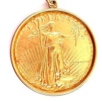 Lady's 22 Karat Coin Pendant