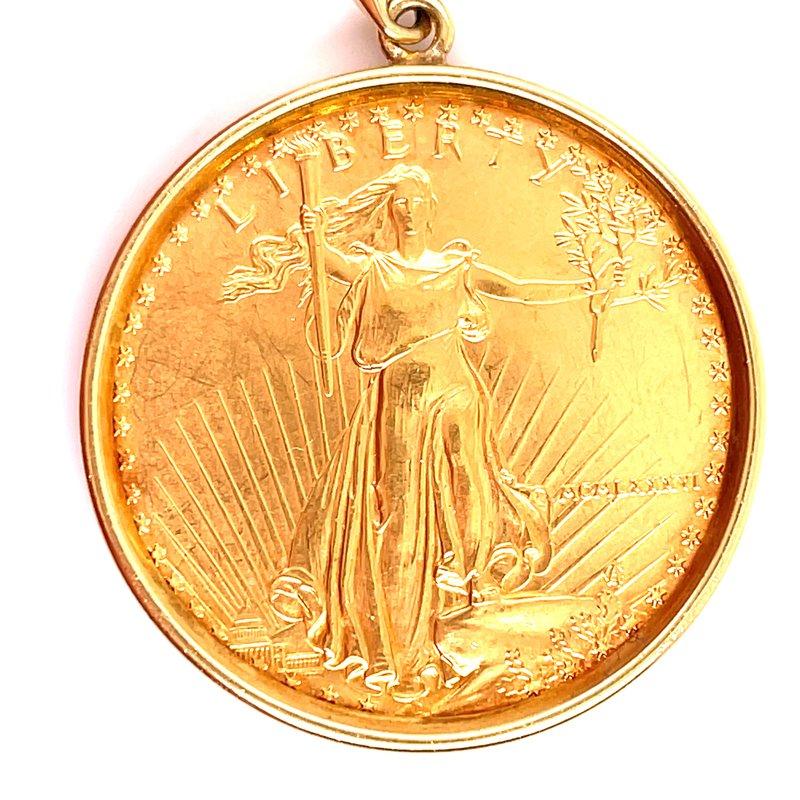Smithworks Estate Jewelry Lady's 22 Karat Coin Pendant