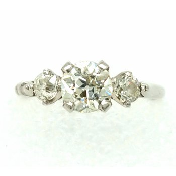 Three Diamond Engagement Ring in Platinum 1.00ctw