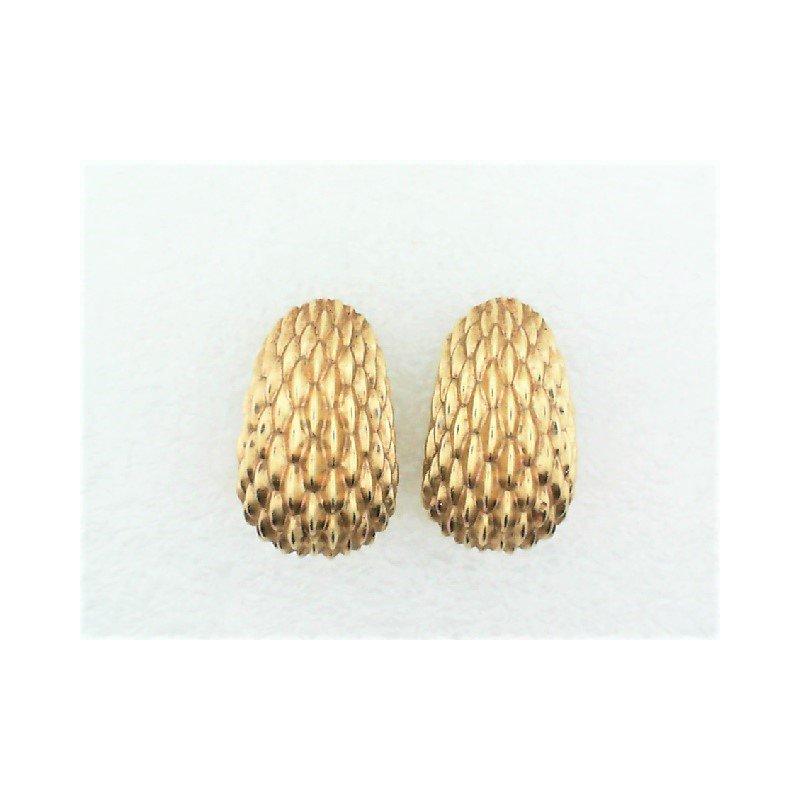 Smithworks Estate Jewelry Lady's Tiffany & Co. Textured Ear Clips