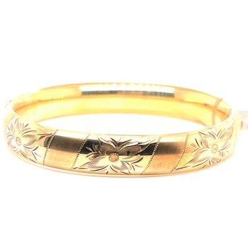Lady's Gold Filled Flower Motif Bracelet