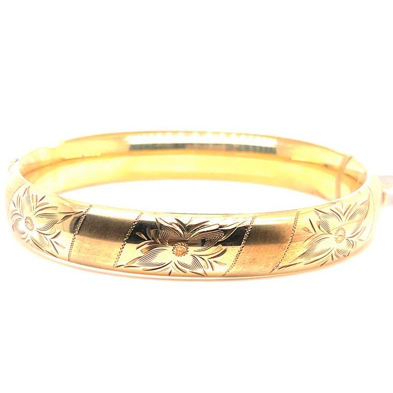 Smithworks Estate Jewelry Lady's Gold Filled Flower Motif Bracelet