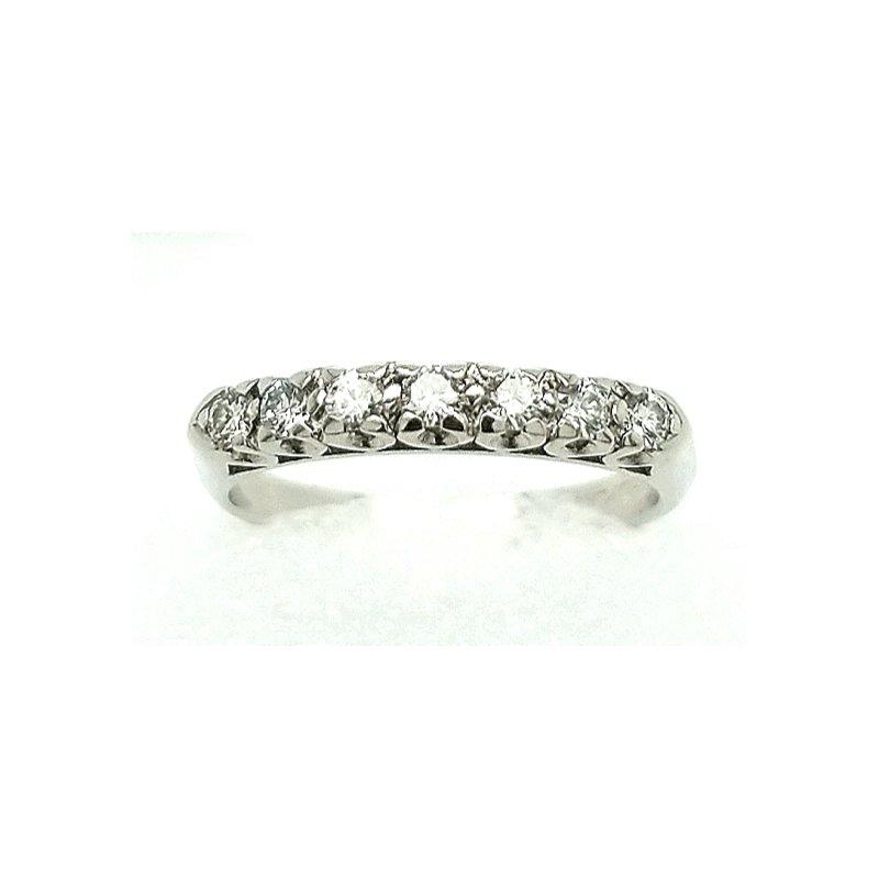 Smithworks Estate Jewelry 7 Diamond Platinum Band