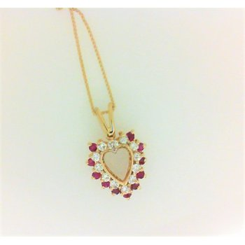 Lady's Diamond and Ruby Heart