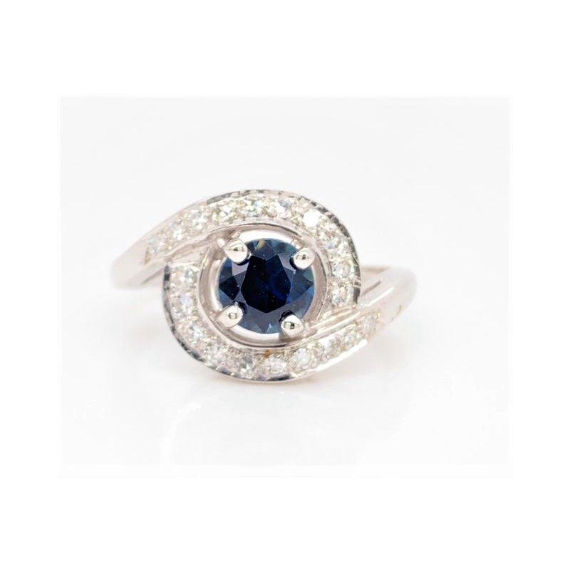 Smithworks Estate Jewelry Lady's Swirl Sapphire Estate Ring