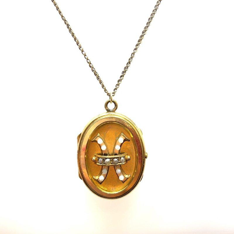 Smithworks Estate Jewelry Gold Filled Estate Locket